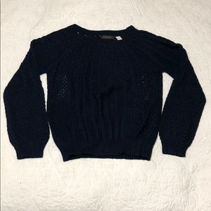 Anthropologie Guinevere Navy Sweater sz XL